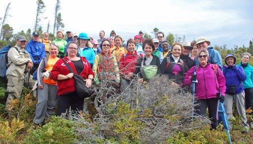 Aspy hiking trail group photo